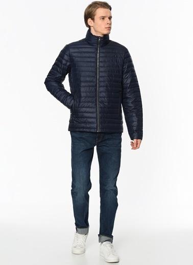 Calvin Klein Doğal Tüy Dolgulu Mont Lacivert